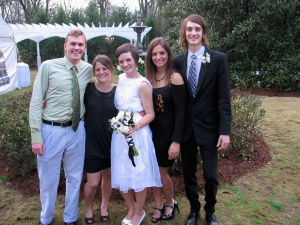 Cousins at Corie\'s wedding
