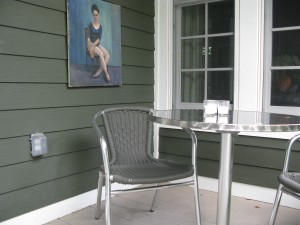 Stainless bistro on the south small porch.