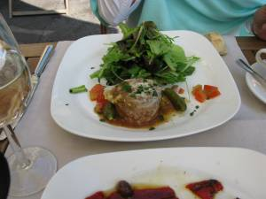 Rabbit Terrine and a mesculin salad for lunch...amazing