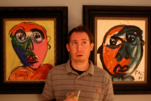 Is it two Peter Keil paintings or three...I can't tell...one seems to be drinking