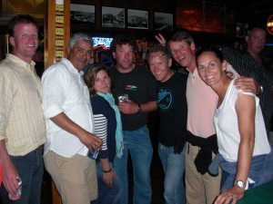 The crew that was left on the last night...out at the Yellow Kittens