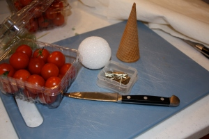 Caprese Salad Ice Cream Cones Working